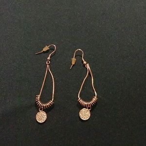 HANDMADE ELEGANT ROSE GOLD EARRINGS